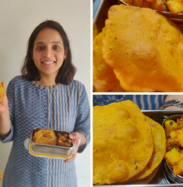 Tiffin Snack Recipe | Masala Poori and Jeera Aloo Recipe