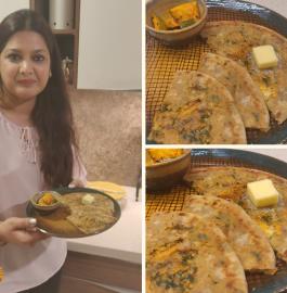 Mix Veg Paratha - Punjabi Style Recipe