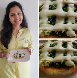 Palak Chhena Sandwich Recipe