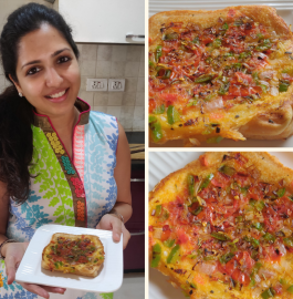 Tawa Bread Pizza Recipe