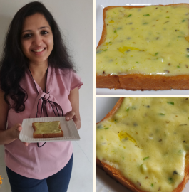 Cheese Garlic Toast With White Sauce Recipe