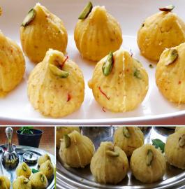 Mawa Modak | Khoya Modak Recipe