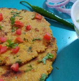 Tamatar Pyaaz Ka Paratha | Rajasthani Tikkad Recipe