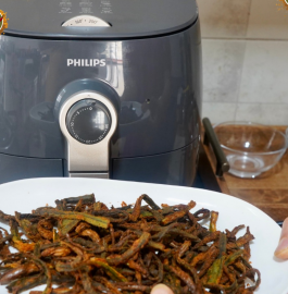 Kurkuri Bhindi | Kurkuri Bhindi in Air Fryer Recipe