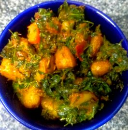 Singhara Methi Saag Recipe