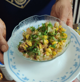 Corn Chaat | Sweet Corn Chaat Recipe