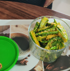 Rai Wali Mirch | Green Chilli Pickle Recipe