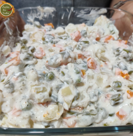 Mayonnaise Salad | Russian Salad Recipe