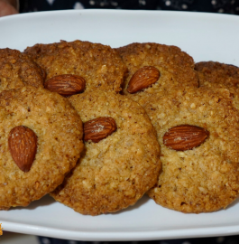 Almond Cookies | Oats Almond Cookies Recipe