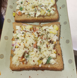 Herb Paneer Open Sandwich Recipe