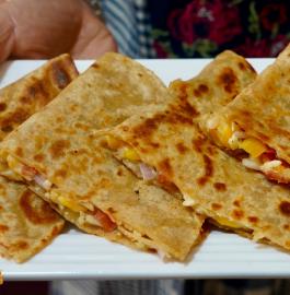 Veg Cheesy Quesadilla Recipe