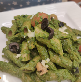 Pesto Pasta | Pasta in Pesto Sauce Recipe