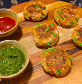 Gobhi Matar Cutlet Recipe