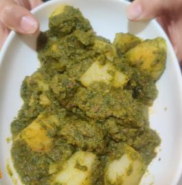 Hariyali Aloo | Dhaniya Wale Aloo Recipe