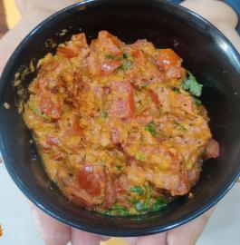 Tomato Gojju | Tomatar Til Ki Sabzi Recipe