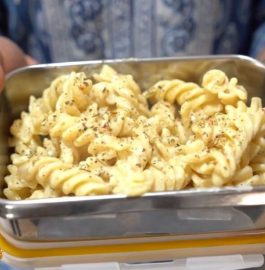 Tiffin Snack Recipe | Cheesy Pasta