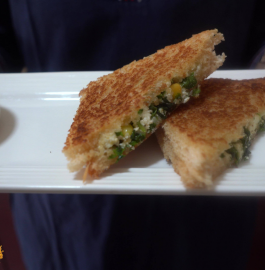 Paneer Corn Mint Sandwich Recipe