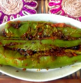 Sattu Stuffed Mirchi Recipe