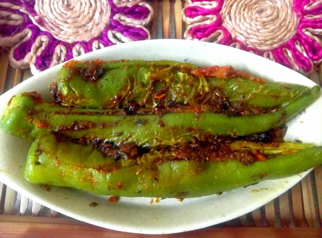 Sattu Stuffed Mirchi Recipe