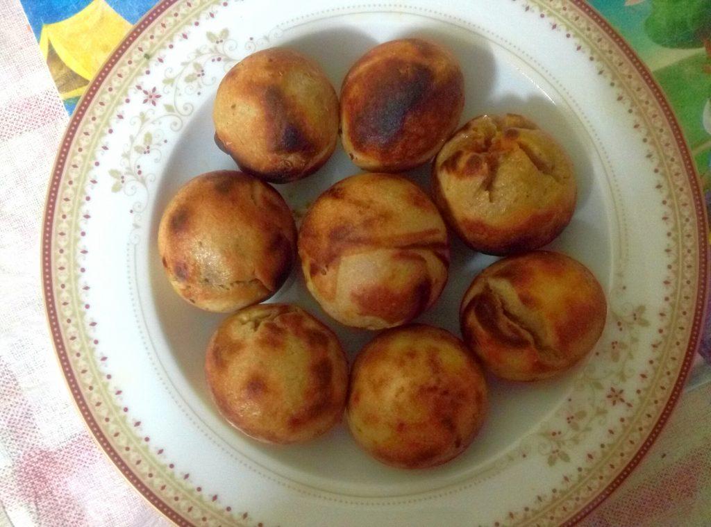 Stuffed Baati In Appe Pan Recipe