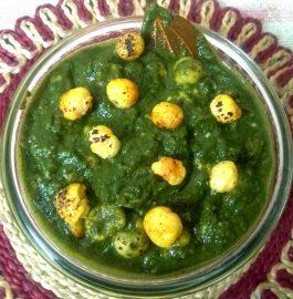 Paneer Makhana In Spinach Gravy Recipe