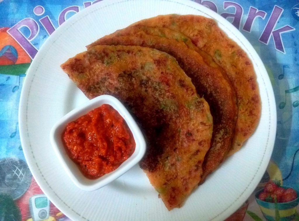 Wheat Tomato Dosa | Instant Tomato Dosa recipe