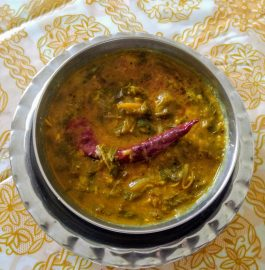 Red Chaulai Mixed dal | Amaranth Leaves Dal Recipe