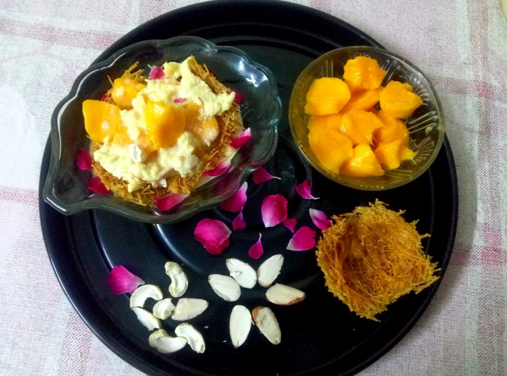Rabri and Mango in Seviyan Nest Recipe