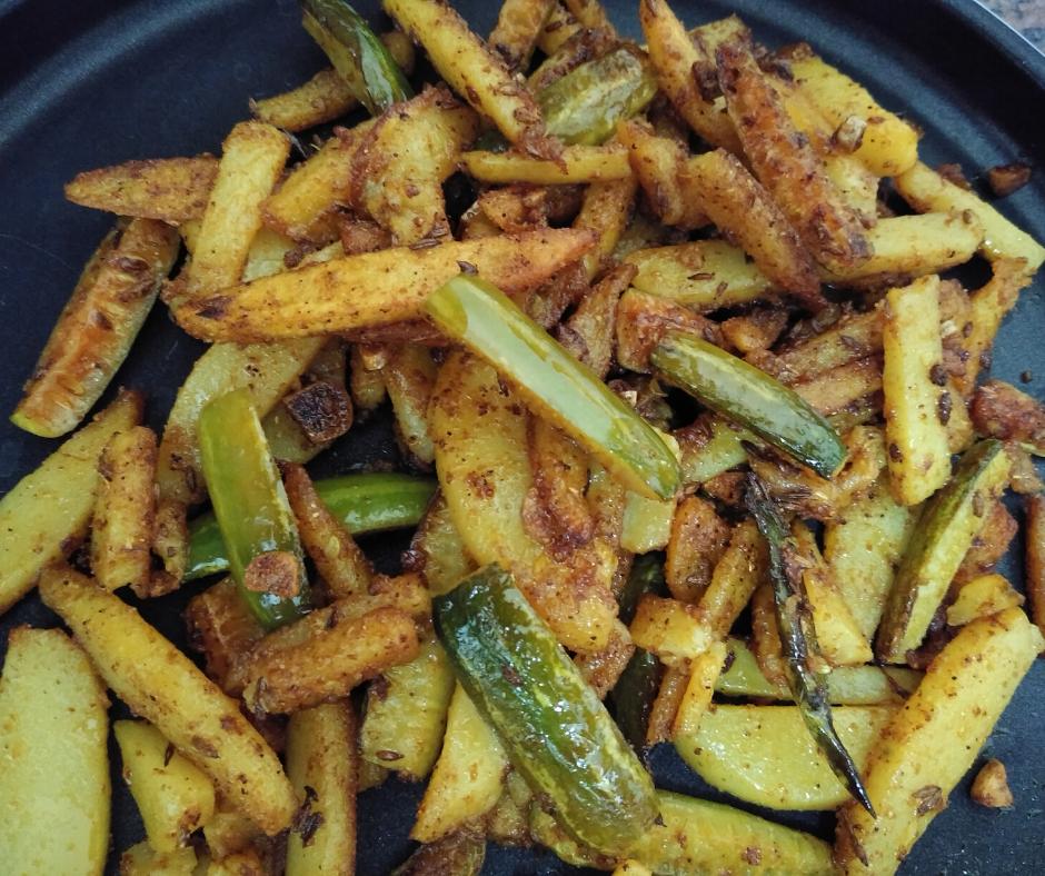 Kundru Aloo Sabzi | Ivy Gourd Fry Recipe