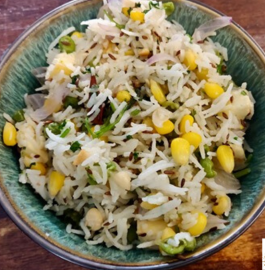 Corn Paneer Pulao Recipe