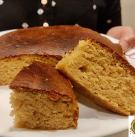 Vanilla Wheat Cake | Eggless Vanilla Cake Recipe