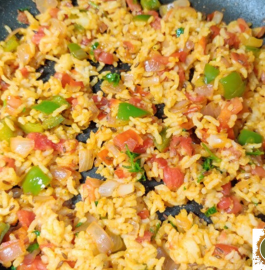 Tomato Capsicum Rice Recipe