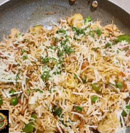 Cheese Tava Pulav Recipe