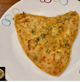 Chilli Cheese Garlic Paratha Recipe
