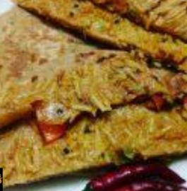 Leftover Masala Vermicelli Paratha Recipe