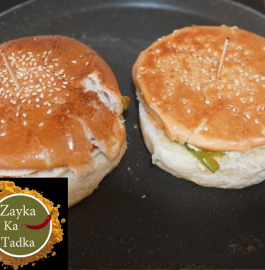 Tawa Chilli Paneer Burger Recipe