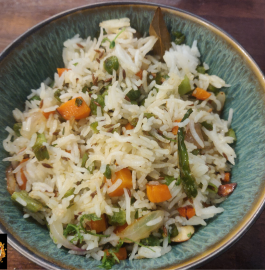 White Pulav | Mix veg Rice Recipe