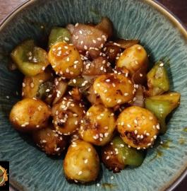 Chili Garlic Potatoes Restaurant Style | Chili Garlic Potatoes Recipe