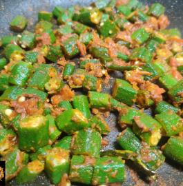Bhindi Tamatar Sabji | Okra Tomato Sabji Recipe
