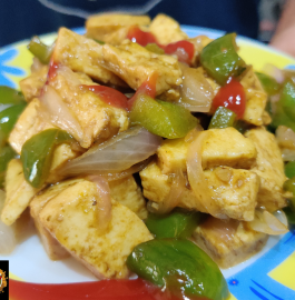 Chili Garlic Paneer Recipe