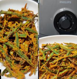Kurkuri Bhindi Restaurant Style   Crispy Bhindi Recipe