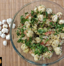 Makhana Bhel | Fox Nuts Chaat Recipe