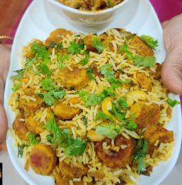 Gatte Ka Pulav Recipe