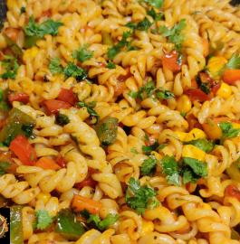 Masala Veg Pasta In Indian Style Recipe