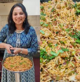 Mumbai Ka Veg Tava Pulav - Street Style Recipe