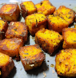 Roasted Paneer Recipe