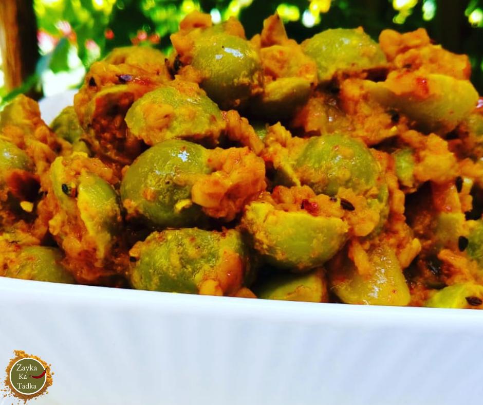 Dana Methi Gunde Ki Achaari Sabji Recipe
