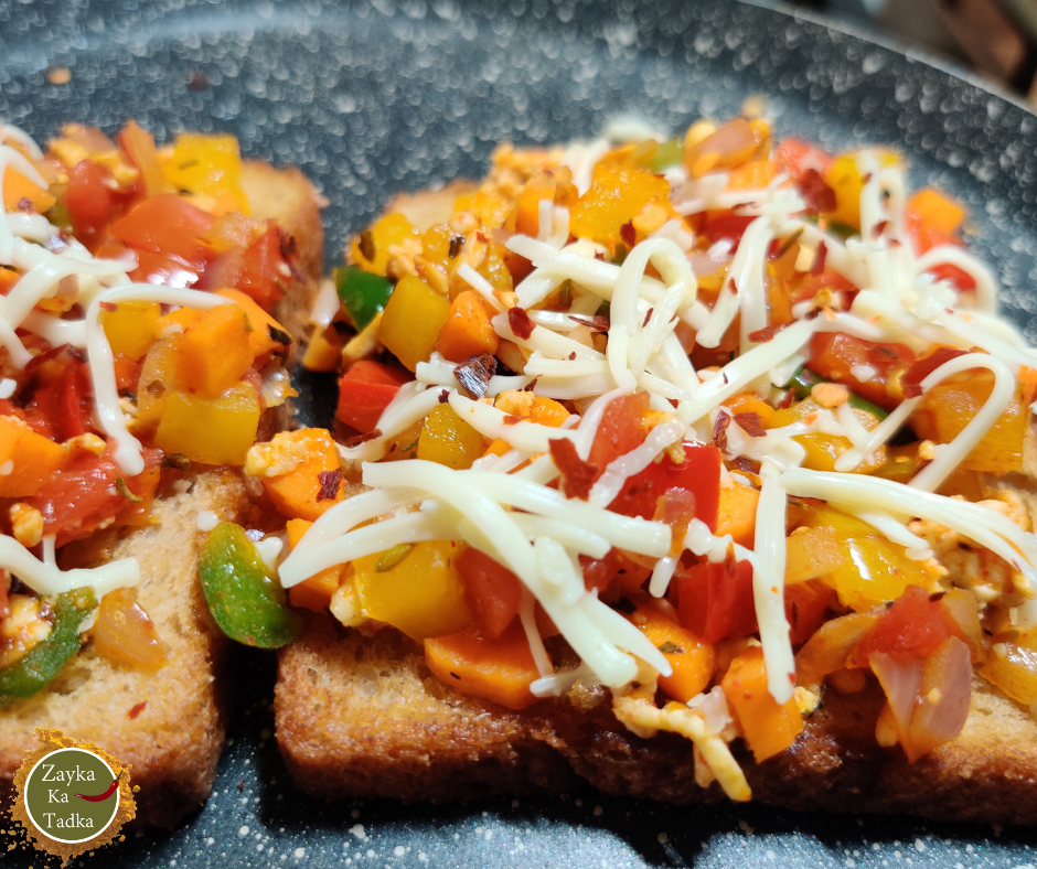 Masala Open Toast | Open Toast | Vegetable Toast Recipe
