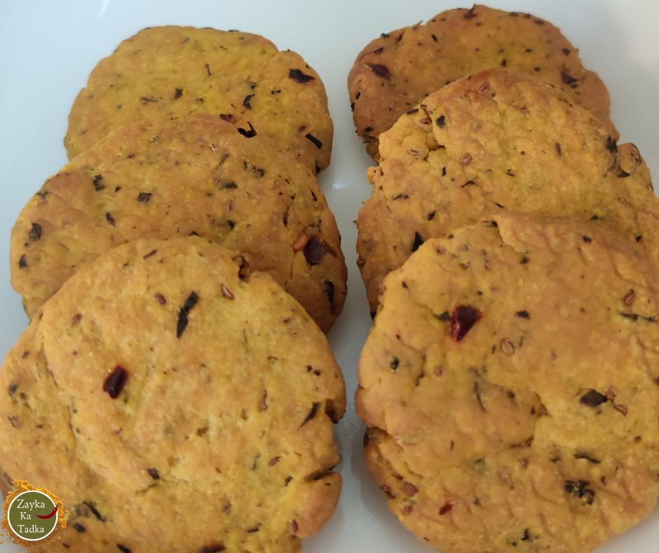 Methi Masala Mathri In Air Fryer Recipe