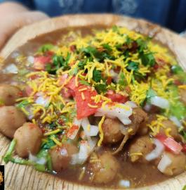 Chole Aloo Tikki Chaat   Delhi Ki Street Style Chaat Recipe